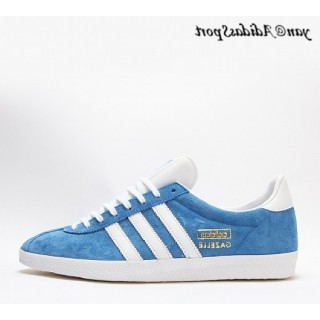 Air Force Bleu Blanc Gold Metallic Adidas Originals Gazelle OG Chaussures Homme