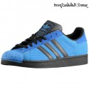 Air Force Bleu Noir Adidas Originals Superstar 2 Homme formateurs