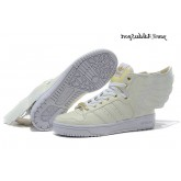 Beige Blanc Gold Adidas Jeremy Scott Wings de obyo 2.0 Glow The Dark
