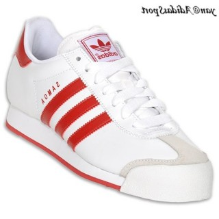 Blanc Rouge Adidas Originals Samoa Chaussures Homme Casual