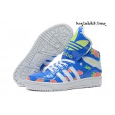 Bleu Blanc Vert pale Lightcoral Pivoine Adidas Originals Jeremy Scott Big Tongue Glow The Dark