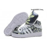 Carbon Grey Blanc Vert pale Adidas Originals Jeremy Scott Big Tongue Skull Glow The Dark