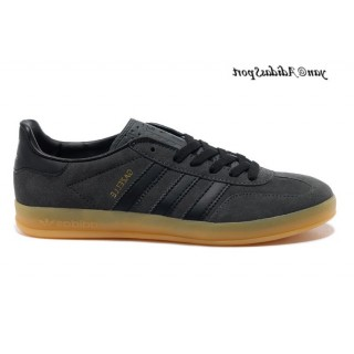 Carbon Noir Marron Adidas Originals Gazelle Homme Indoor Chaussures