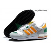 Cool Grey Orange Vert Blanc Chaussures Adidas Originals Zx 700 Femme