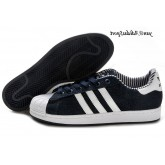 Dark Blue Denim Blanc Adidas Originals Superstar II formateurs