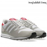 Gris Collegiate rouge Adidas Originals ZX500 OG Flux Weave Chaussures Homme