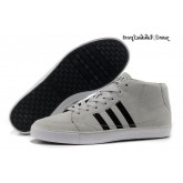 Gris clair Noir Blanc Adidas Homme Vlneo Bball Mid Lifestyle Chaussures
