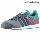 Gris plomb Turquoise Explosion rose Adidas Originals Samoa Homme toile
