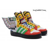 Indian Style coloré Jeremy Scott x Adidas Originals JS Wings de 2.0