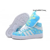 Jade Blanc Vert pale Adidas Originals Jeremy Scott Big Tongue Skull Glow The Dark