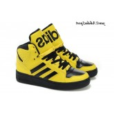 Jaune Noir Adidas Originals by Jeremy Scott Instinct hautes chaussures