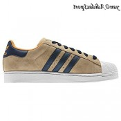 Khaki Navy Blanc Orange Adidas Originals Superstar 2 Chaussures Homme Suede