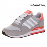 Light Grey Neon Rose Blanc Adidas Originals ZX 500 Chaussures Femme OG