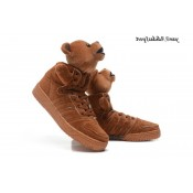 Marron Adidas Originals X Holiday Bears & quot Jeremy Scott Chaussures Furry