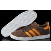 Marron Foncé Orange Blanc Adidas Originals Gazelle Homme toile