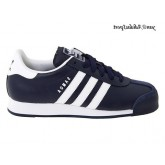 New Navy Blanc Adidas Originals Samoa Homme Retro Lifestyle Chaussures en cuir