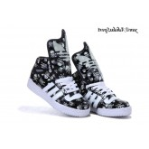 Noir Blanc Adidas Originals Jeremy Scott Big Tongue Glow Le Dark Skull