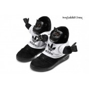Noir Blanc Adidas Originals by Jeremy Scott JS Gorilla Chaussures