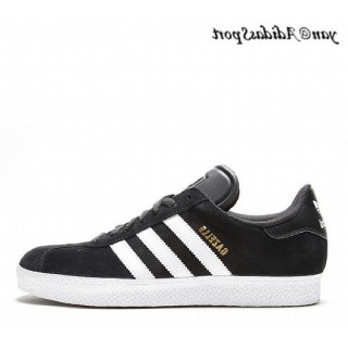 Noir Blanc Gold Metallic Adidas Originals Gazelle II Chaussures Homme
