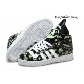 Noir Blanc Vert pale Adidas Originals Jeremy Scott Big Tongue Glow The Dark