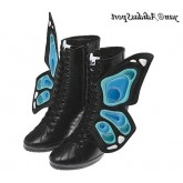 Noir Bleu Turquoise Adidas Originals by Jeremy Scott Butterfly Wings Wedge Bottes