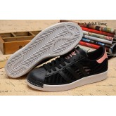 Noir Fade Rose Adidas Originals Superstar 80 Femme Summer Mesh Chaussures