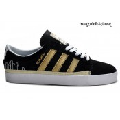 Noir Metallic or blanc Adidas Originals Rayado Faible Chaussures