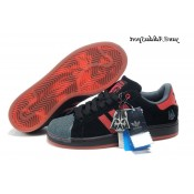 Noir Rouge Slategrey Adidas Originals Star Wars Darth Vader Superstar II Homme formateurs