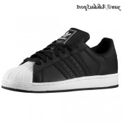 Noire en blanc Adidas Originals Superstar 2 Homme formateurs
