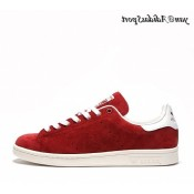 Nomad Rouge Blanc Adidas Originals Stan Smith Homme Suede Chaussure
