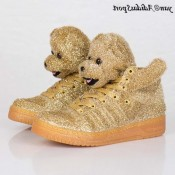 Rich Gold Adidas Originals x Jeremy Scott vacances Bears Chaussures Furry