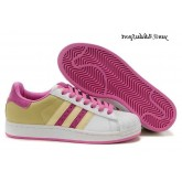 Rose Blanc Light Light Jaune Olive Adidas Originals Superstar II Femme