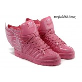 Rose Rose Blanc Adidas Originals by Jeremy Scott Ailes chaussures en cuir verni
