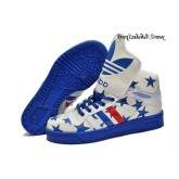 Rouge Bleu Beige Blanc Adidas Originals Jeremy Scott Big Tongue Five Star Glow The Dark