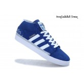 Royalblue blanc Silver Metallic Gold Adidas Originals Rayado Mid Skate chaussures de style