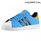 Solaire Bleu Noir Blanc Orange Adidas Originals Superstar 2 Homme formateurs