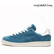 Tribe Bleu Blanc Adidas Originals Stan Smith Homme Suede Chaussure