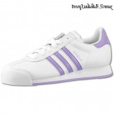 Ultra-Blanc Purple Adidas Originals Femme Samoa Retro Chaussures en cuir