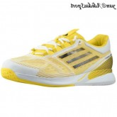 Vivid Yellow Noir Blanc Adidas adizero Feather II Climacool Homme Chaussures de course
