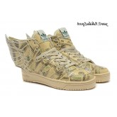 argent Burlywood Imprimé Jeremy Scott x Adidas Originals JS Wings de 2.0