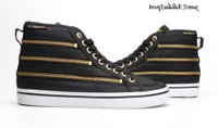 Black Gold - Adidas Originals Honey HI Tops Zipper Femmes Chaussures Casual