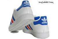 Blanc Bleu Rouge - Adidas Originals Superstar Lovers Chaussures