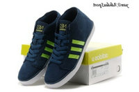 Deep Blue Neon Vert Blanc - Adidas Hommes Vlneo Bball Mid Lifestyle Chaussures