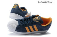 Navyblue Orange Blanc - Adidas Originals Superstar 2 Chaussures Hommes Suede