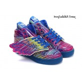 Arc en ciel bleu royal Adidas Originals by Jeremy Scott Wings de Jeremy Scott JS