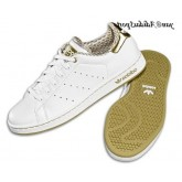 Blanc Or Adidas Originals Stan Smith 2.0 Femme Chaussures en cuir