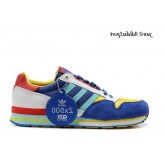 Bleu Jaune Rouge Turquoise Adidas Originals ZX 500 Chaussures Homme