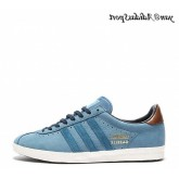 Blue Ink Marron Gold Metallic Adidas Originals Gazelle OG Chaussures Homme
