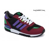 Bourgogne carbone Mediumpurple Vert Blanc Adidas Originals ZX 700 Lovers Chaussures