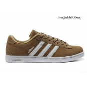 Café Blanc Adidas NEO Derby Suede Chaussures Homme